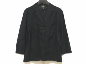 ローラアシュレイ LAURAASHLEY ジャケット サイズ9 M レディース 美品 ダークネイビー 刺繍【中古】