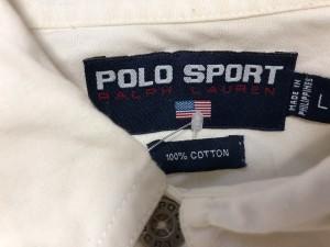 ポロスポーツラルフローレン PoloSportRalphLauren 長袖シャツ サイズL メンズ 白【中古】