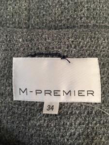 エムプルミエ M-PREMIER コート サイズ34 S レディース グレー 冬物【中古】