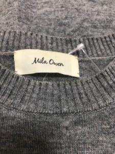 ミラオーウェン Mila Owen 長袖セーター サイズF レディース 新品同様 グレー×ネイビー【中古】
