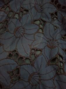 ノーベスパジオ NOVESPAZIO ワンピース サイズ36 S レディース 美品 ブルー×ネイビー カシュクール/花柄/レース【中古】