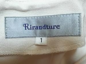 リランドチュール Rirandture ワンピース サイズ1 S レディース 美品 ベージュ×ダークネイビー×マルチ 花柄/フリル【中古】