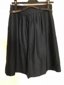 ジャスグリッティー JUSGLITTY スカート サイズ2 M レディース ネイビー【中古】