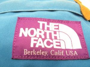 ノースフェイス THE NORTH FACE リュックサック レディース ブルー×ブラウン×黒 アクリル×ナイロン×スエード【中古】