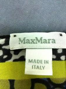 マックスマーラ Max Mara スカーフ レディース 美品 ブルー×オリーブ×マルチ【中古】