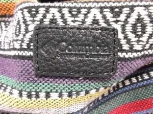 コロンビア columbia ショルダーバッグ レディース 白×マルチ コットン【中古】