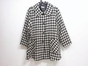 ミルク MILK コート レディース 黒×アイボリー 冬物/千鳥格子【中古】