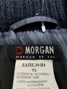 モルガン MORGAN DE TOI ブルゾン サイズT2 レディース 黒 冬物【中古】