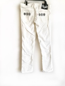 ロデオクラウンズ RODEOCROWNS パンツ サイズ2 M レディース 美品 アイボリー×黒 スカル/刺繍【中古】