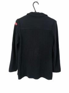 レコパン LesCopains ジャケット サイズ1 S レディース 美品 ダークネイビー×レッド ニット【中古】