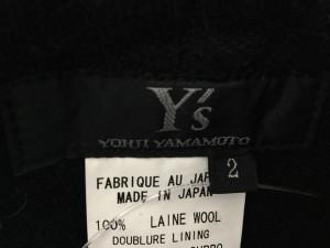 ワイズ Y's パンツ サイズ2 M レディース 黒 厚手/YOHJI YAMAMOTO/ワイドパンツ【中古】