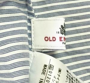 オールドイングランド OLD ENGLAND ノースリーブシャツブラウス サイズ36 S レディース ブルー×白 ボーダー/刺繍【中古】