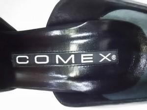 コメックス COMEX パンプス 23 1/2 レディース 黒×ダークブラウン×ベージュ レザー×ハラコ【中古】