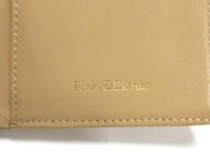 ピンキー&ダイアン Pinky&Dianne Wホック財布 レディース ライトブラウン エナメル(レザー)【中古】