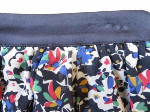 マッキントッシュフィロソフィー MACKINTOSH PHILOSOPHY スカート サイズ36 M レディース 美品 黒×レッド×マルチ 花柄【中古】
