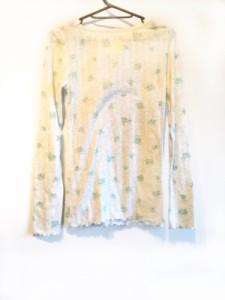 ジェラートピケ gelato pique 長袖カットソー サイズF レディース ライトグレー×ブルー×マルチ 花柄【中古】