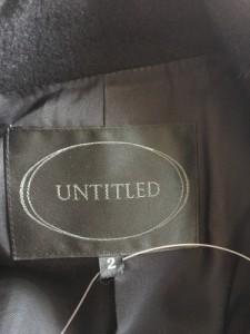 アンタイトル UNTITLED コート サイズ2 M レディース 美品 黒【中古】