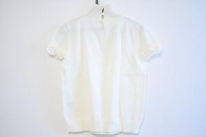 ルネ Rene 半袖セーター サイズ38 M レディース 美品 アイボリー ハイネック/フラワー【中古】