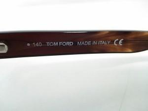 トムフォード TOM FORD メガネ レディース TF5130 クリア×ダークブラウン 度入り ガラス×プラスチック【中古】
