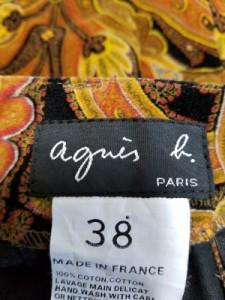 アニエスベー agnes b ショートパンツ サイズ38 M レディース 美品 ライトブラウン×レッド×マルチ ペイズリー【中古】