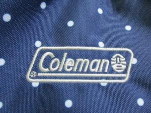コールマン Coleman リュックサック レディース 美品 ネイビー×ライトグレー ドット柄 ナイロン【中古】