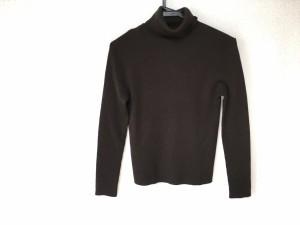 ニジュウサンク 23区 長袖セーター サイズ38 M レディース ダークブラウン タートルネック【中古】