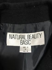 ナチュラルビューティー ベーシック NATURAL BEAUTY BASIC コート サイズM レディース 美品 黒 春・秋物【中古】