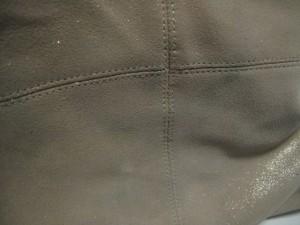 トレジャートプカピ TREASURE TOPKAPI トートバッグ レディース ベージュ×ダークブラウン ラメ スエード×レザー【中古】