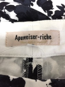 アプワイザーリッシェ Apuweiser-riche パンツ サイズ0 XS レディース 黒×白 花柄【中古】