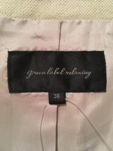 グリーンレーベルリラクシング green label relaxing ジャケット サイズ38 M レディース 美品 ベージュ【中古】