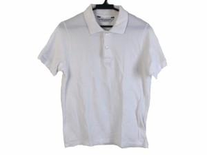 ニールバレット NeilBarrett 半袖ポロシャツ サイズS メンズ 美品 白×グレー【中古】