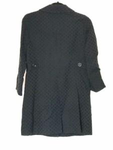 グリーンレーベルリラクシング green label relaxing コート サイズ38 M レディース 黒 刺繍/ドット柄/春・秋物【中古】