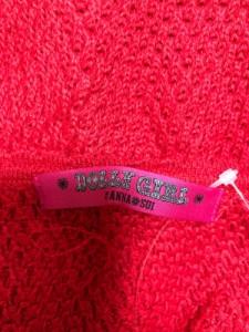 ドーリーガール DOLLY GIRL 七分袖セーター サイズ2 S レディース レッド BY ANNA SUI【中古】