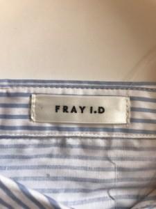 フレイアイディー FRAY I.D 長袖シャツブラウス サイズF レディース 美品 ライトブルー×クリア×白 ストライプ【中古】