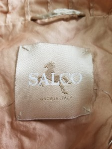 サルコ SALCO コート レディース ベージュ 春・秋物/ビジュー/フリル【中古】