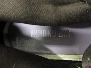 ヒロコビス HIROKO BIS ショートブーツ 24 レディース パープル×ブラウン×マルチ ウール×ナイロン×レザー【中古】