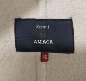 アマカ AMACA ダッフルコート サイズ40 M レディース ブラウン 冬物【中古】