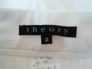 セオリー theory パンツ サイズ2 S レディース アイボリー×ネイビー【中古】