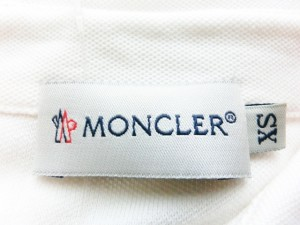 モンクレール MONCLER 半袖ポロシャツ サイズXS レディース アイボリー×レッド×ダークネイビー【中古】
