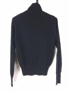 ジョセフ JOSEPH 長袖セーター レディース 黒×白×マルチ タートルネック/ストライプ【中古】