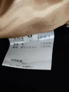 メルローズ MELROSE コート サイズ3 L レディース 美品 黒 冬物【中古】