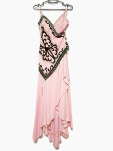 スワローテイル Swallowtail ドレス サイズ7号 レディース ピンク スパンコール/ビーズ/ラインストーン【中古】