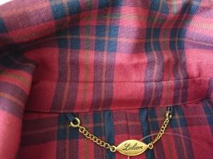 レリアン Leilian ジャケット サイズ7 S レディース レッド×ネイビー×グリーン 肩パッド/チェック柄【中古】
