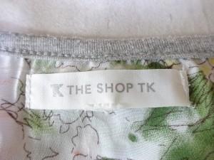 ザ ショップ ティーケー THE SHOP TK (MIXPICE) 半袖カットソー レディース ライトグレー×マルチ ビジュー/花柄【中古】