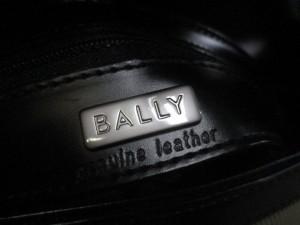 バリー BALLY ショルダーバッグ レディース アイボリー×黒 キャンバス×レザー【中古】