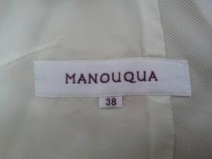 マヌーカ MANOUQUA ジャケット サイズ38 M レディース 美品 ベージュ【中古】