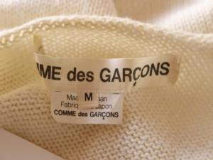 コムデギャルソン COMMEdesGARCONS 半袖セーター サイズM レディース 美品 アイボリー【中古】