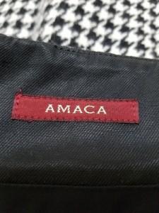 アマカ AMACA スカート サイズ36 S レディース 白×黒 千鳥格子【中古】