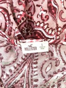 ホリスター Hollister ワンピース サイズS レディース ピンク×アイボリー×マルチ【中古】