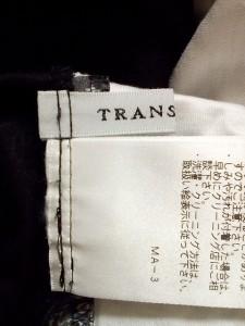 トランスワーク TRANS WORK カットソー レディース 新品同様 黒×白×グレー【中古】